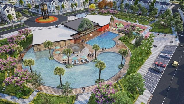 Bể bơi và clubhouse